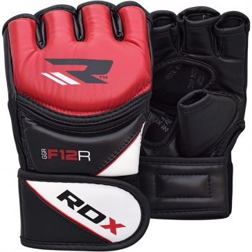 RDX Sports Leather X MMA handschoenen Rood