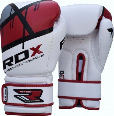 RDX-Sports Bokshandschoenen Quadro-Dome Wit/Rood