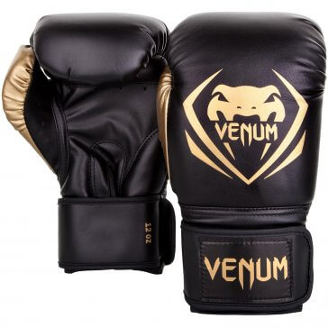 """Venum """"Contender"""" Bokshandschoenen Black/Gold"""