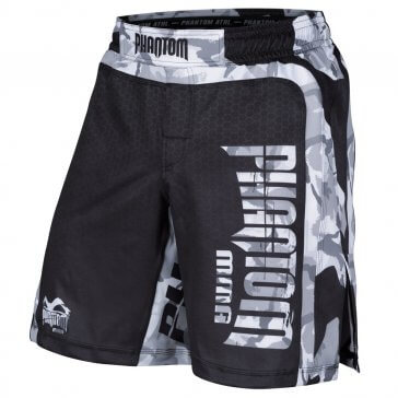 "Phantom Athletics MMA Fightshorts ""STORM Winter Camo"" Zwart"