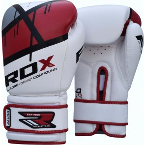 RDX-Sports Bokshandschoenen Quadro-Dome Wit/Rood