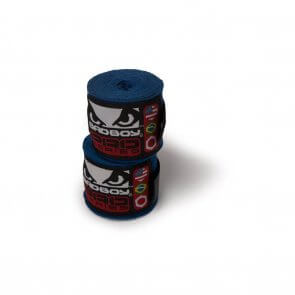 Stretch handwraps 3.5m blauw Bad Boy | Fightgloves.nl