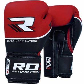 RDX Quad-Kore Bokshandschoenen Lederen Versie Rood/Zwart