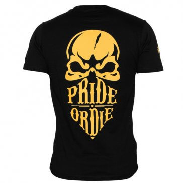 """Pride Or Die """"Reckless"""" T-shirt Zwart/Geel"""