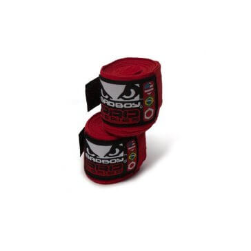 Stretch handwraps 3.5m rood Bad Boy | Fightgloves.nl