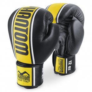 """Phantom Muay Thai Bokshandschoenen""""MT-Pro"""" Zwart/Geel"""