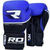 RDX Quad-Kore Bokshandschoenen Lederen Versie Blauw/Zwart