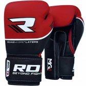RDX Sports Quad-Kore Bokshandschoenen Lederen Versie Rood/Zwart