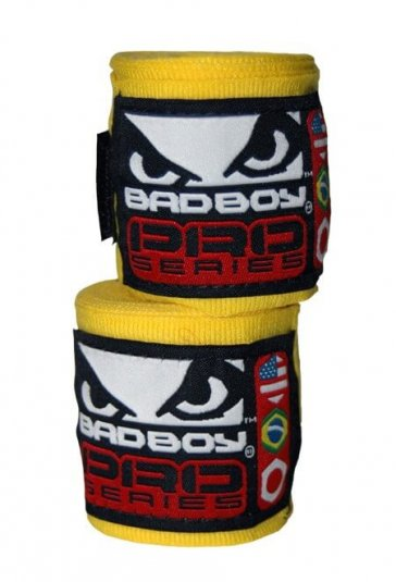 Bad Boy hand wraps geel
