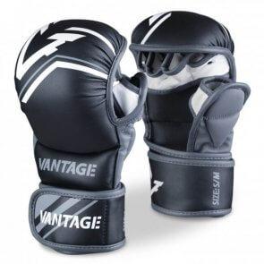 Vantage Combat Sparring MMA Gloves/Handschoenen Zwart